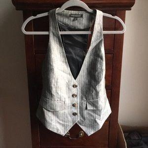 Linen blend Express vest